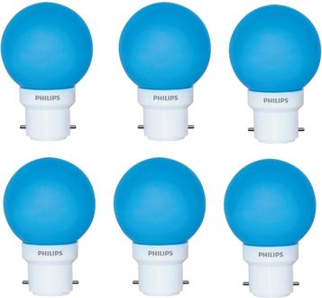 Philips  0.5 W Deco B22 IND LED Bulb (Blue, Pack of 6) Price in India