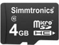 Simmtronics 4GB MicroSDHC Class 10 (6MB/s) Memory Card Price in India