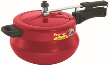 Prestige Nakshatra Plus Red Handi Aluminium 5 L Pressure Cooker (Induction Bottom, Inner Lid) Price in India