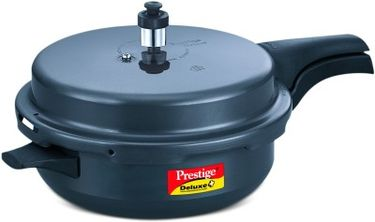 Prestige Hard Anodised Deluxe Plus Senior Aluminium 5 L Pressure Cooker (Induction Bottom, Outer Lid) Price in India