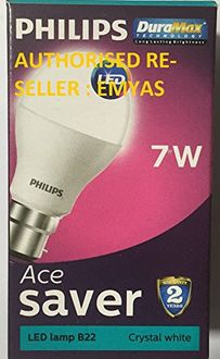 Philips 7 W B22 LED Bulb (Cool Day Light, Pack of 2) Price in India