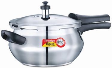 Prestige Deluxe Alpha Mini Handi Stainless Steel 3.3 L Pressure Cooker (Induction Bottom,Outer Lid) Price in India