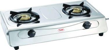 Prestige Agni Deluxe SS 2 Burner Gas Cooktop Price in India