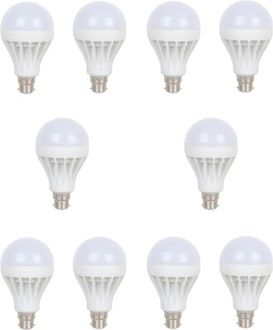 Earton 3W B22 LED Bulb (White, Set of 10) Price in India