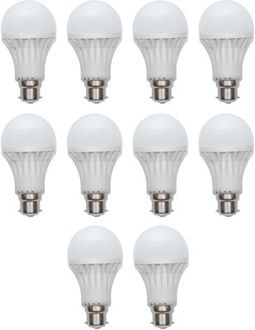 Harit Energy 7W B22 LED Bulb (White, Set of 10) Price in India