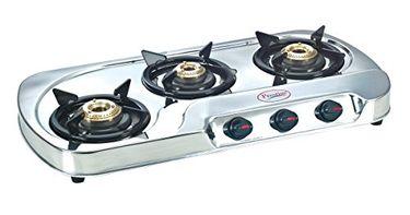 Prestige GS03 L E 3 Burner SS Gas Cooktop Price in India