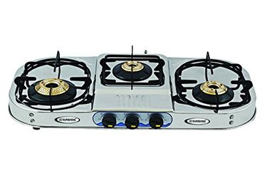 Sunshine VT-3 Step 3 Burner SS Gas Cooktop Price in India