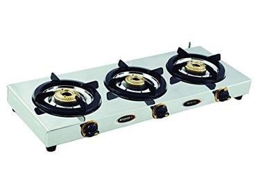 Sunshine Cute 3 Burner SS Gas Cooktop Price in India