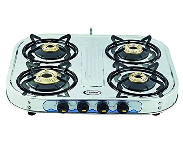 Sunshine Eco 4 Burner SS Gas Cooktop Price in India