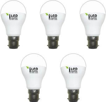 Imperial 3W-WW-BC22-3609 LED Premium Bulb (Yellow, Pack of 5) Price in India