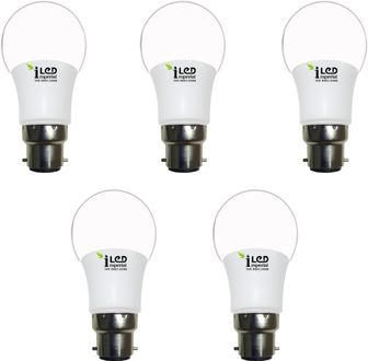 Imperial 3W-WW-BC22-3641 LED Premium Bulb (Yellow, Pack of 5) Price in India