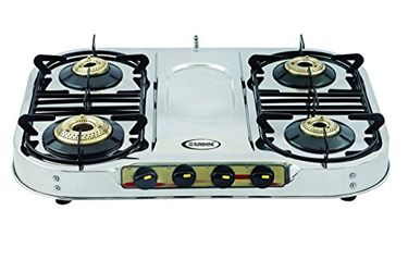 Sunshine Skytech Plus SS 4 Burner Gas Cooktop Price in India