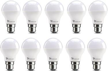 Syska 7W B22 700L Plastic LED Bulb (White, Pack of 10) Price in India
