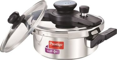 Prestige 25643 Stainless Steel 3 L Pressure Cooker (Induction Bottom,Outer Lid) Price in India