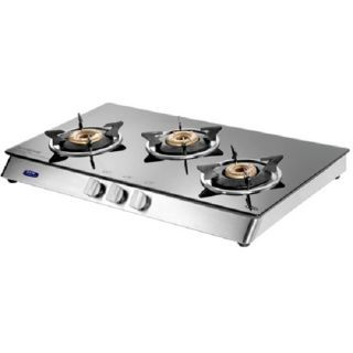 KAFF KC 70 SS GI AI 3 Burner Gas Cooktop Price in India