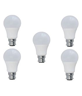 Syska 7W PAG LED Bulb (White, Pack of 5) Price in India