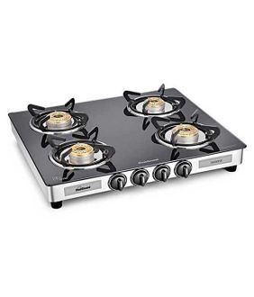 Sunflame Diamond 4B SS- GT 4 Burner Gas Cooktop Price in India