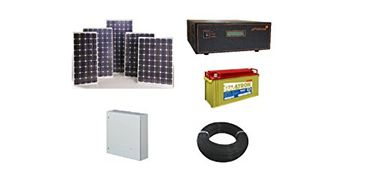 Rooftop Urja 1000W Solar Battery System (4 250Wp Solar PV Module, MPPT Charge Controller) Price in India
