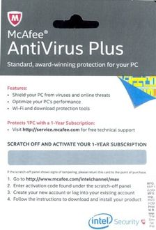 McAfee Antivirus Plus 2016 1PC 1 Year Price in India