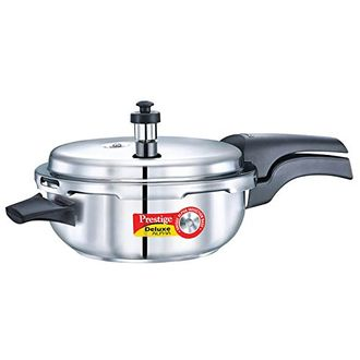 Prestige Deluxe Alpha Senior 4 L Pan Stainless Steel Pressure Cooker (Induction Bottom, Outer Lid)) Price in India