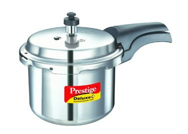 Prestige Deluxe Plus Aluminium 3 L Pressure Cooker (Induction Bottom, Outer Lid) Price in India
