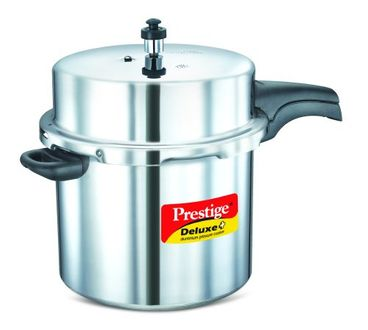 Prestige Deluxe Plus Aluminium 12 L Pressure Cooker (Induction Bottom, Outer Lid) Price in India