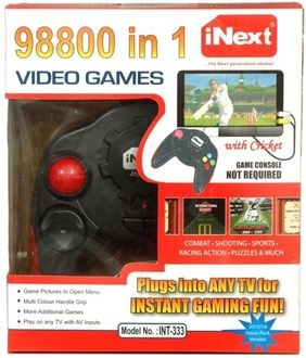 Inext INT333 98800 in 1 Video Game (With Combate Shooting Sports Racing Action Puzzles) Price in India