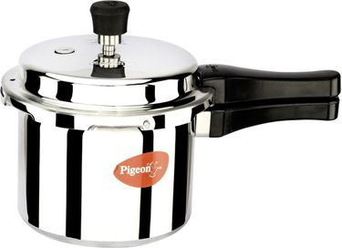 Pigeon Aluminium 3 L Pressure Cooker (Induction Base, Outer Lid) Price in India