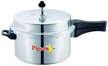 Pigeon Calida Deluxe Aluminium 5 L Pressure Cooker (Induction Base, Outer Lid) Price in India