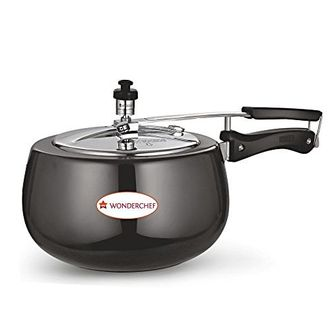 Wonderchef 63151568 Raven Hard Anodized 3 L Pressure Cooker (Inner Lid) Price in India
