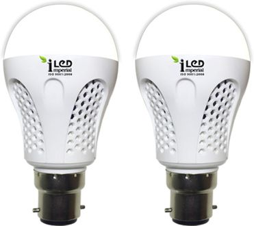 Imperial 7W-WW-BC22-3535-2 Premium LED Bulb (Warm White, Pack Of 2) Price in India