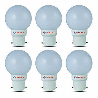 Bajaj 0.5W B22 LED Bulb (White, Pack Of 6) Price in India