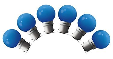 Wipro Safelite 0.5W B22 LED Night Bulb (Blue, Pack Of 6) Price in India