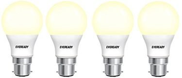 Eveready 5W B22D 450L LED Bulb (Warm White, Pack Of 4) Price in India
