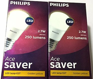 Philips Ace Saver 2.7W E27 250L LED Bulb (Warm White, Pack Of 2) Price in India