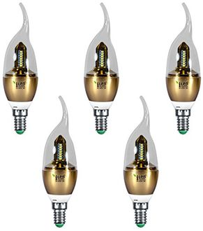 Imperial 3686 3W E14 LED Bulb (Yellow, Pack Of 5) Price in India