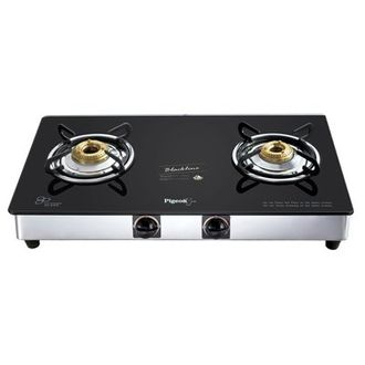 Pigeon Blackline Square SS Auto Gas Cooktop (2 Burner) Price in India