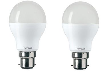 Havells Lumeno 5W 550L LED Bulb (Cool Day Light, Pack of 2) Price in India