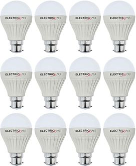 Electricless 7 W Super Bright Power B22 LED Bulb (White, Pack Of 12) Price in India