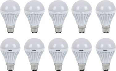 Arusha  7W B22 450L LED Bulb (White, Pack Of 10) Price in India
