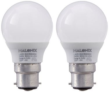 Halonix 5W B22 430L LED Bulb (White, Pack Of 2) Price in India