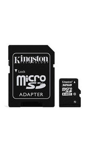 Kingston 32GB MicroSDHC Class 10 (45MB/s) Memory Card (With Adapter) Price in India