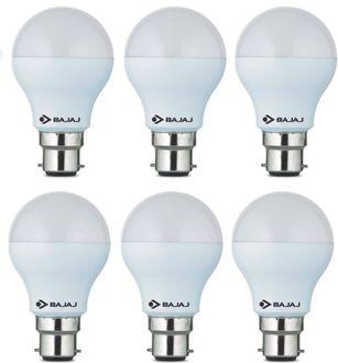 Bajaj 7W B22 600L LED Bulb (White, Pack Of 6) Price in India