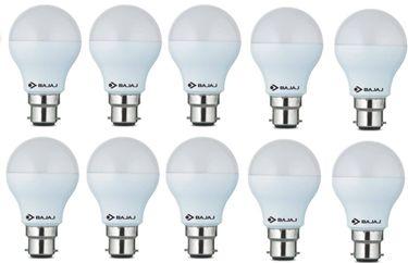 Bajaj 7W B22 600L LED Bulb (White, Pack Of 10) Price in India