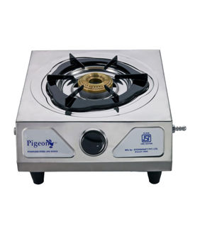Pigeon Stainless Steel Solo LPG Stove (1 Burner) Price in India