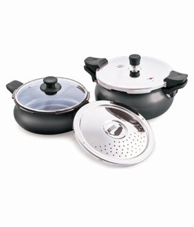 Pigeon All in One Super Value Pack 5 L IB Hard Anodised Pressure Cooker Price in India