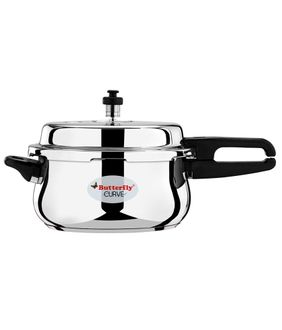 Butterfly Curve Stainless Steel 5 L Pressure Cooker (Induction Base, Outer Lid) Price in India