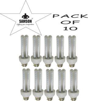 Samson 6W LED 2U Clear B22 CFL Bulb (Warm White, Pack of 10) Price in India
