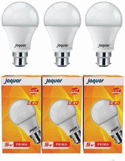 Jaquar 3 W Prima LED Bulb (White, Pack of 5) Price in India