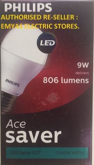 Philips Ace Saver 9W 806L E27 LED Bulb (Cool Day Light, Pack of 4) Price in India